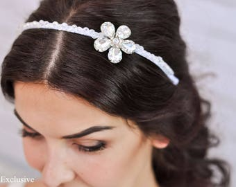 Flower headband Wedding headpiece Flower headpiece Floral headband Floral headpiece Bridal headpiece Bridal headband Crystal headpiece