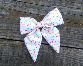 Sprinkles , Grande barrette boucle cheveux | Sprinkles, Large sailor bow , hair bow, adult bows, toddler hair accessories