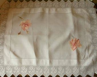 Vintage Embroidered Table Cloth or Center