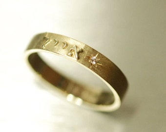 Personalized Ring For Him Or Her Customized Name Band Gold Gift