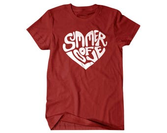 Love shirt, Heart shirt, Summer of Love, funny shirts, gift for him, and her, hilarious tees