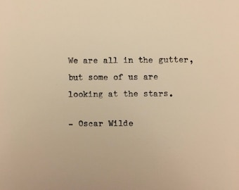 Oscar Wilde quote hand typed on antique typewriter scrapbooking