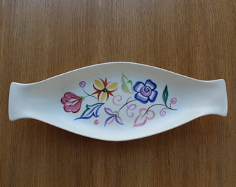 Poole Pottery 1950's handpainted flower dish