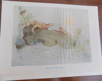 Vintage Book Illustration from the Book: Peter Pan and Wendy 1931 by Mabel Lucie Attwell Framing Supply Free Shipping