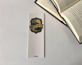 Hufflepuff Cardboard Bookmark // Hogwarts Houses