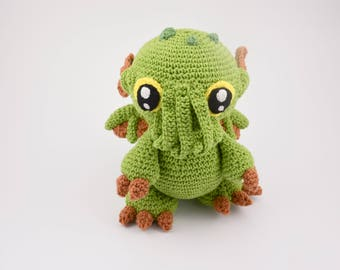 Crochet PATTERN No 1718 Cthulhu baby monster pattern by Krawka,