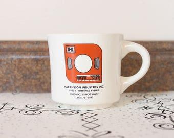 1970's Hakansson Industries, Inc Coffee Mug Håkansson Sågblad AB 1980s 70s Retro Cup