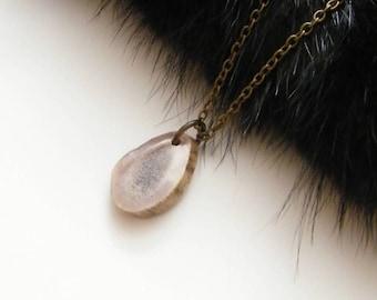 Deer antler necklace, antler jewelry, bone necklace, rustic necklace,organic necklace, boho necklace, deer lover necklace, gift for huntress