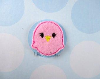 RTS Pink Chick Felties (Set of 4 UNCUT) FELT Felties, Hair Bow Centers, Felt embellishments, Felt Appliques, Ready to Ship