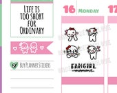 Munchkins -  Fangirl Moment! Excited Fangirling Planner Stickers (M313)