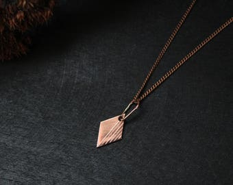 Valentines day necklace for girlfriend gift Valentine day gift for her Wife statement gift Romantic gift for woman Copper necklace Minimal