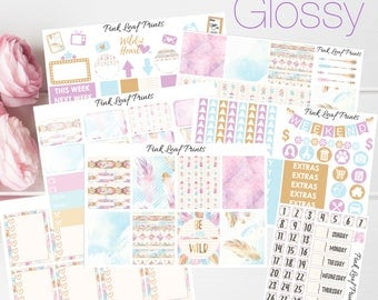 GLOSSY | Wild at Heart | Weekly Planner Sticker Kit