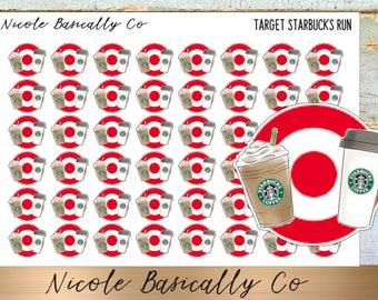 Target & Starbucks Run Planner Stickers