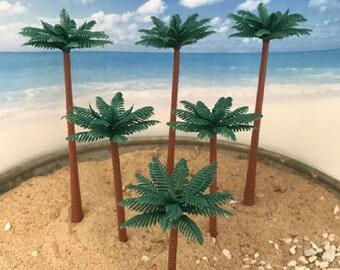 Miniature Palm Trees - Set of 6!