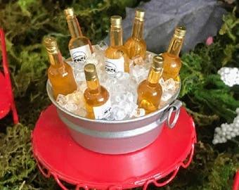 Miniature Tub of Beer on Ice