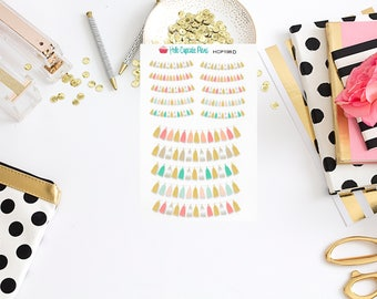 HCP198D Colorful Pastel Tassel Planner Stickers