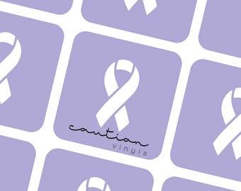 Awareness Ribbon Nail Vinyls - Nail Stencil for Nail Art
