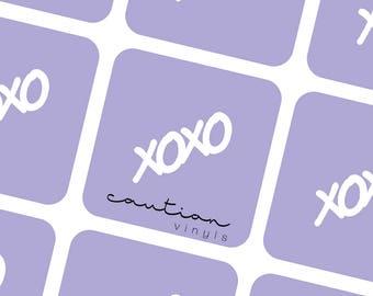 XOXO Nail Vinyl - Nail Stencil for Nail Art