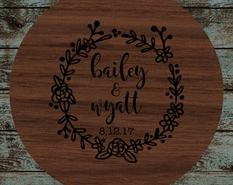 Personalized Lazy Susan Rustic Love Story