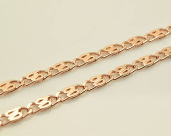 """18K Rose Gold Filled Chain 23"""" Inch CG209"""