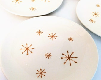 Star Glow Plates,4 Bread and Butter Plates