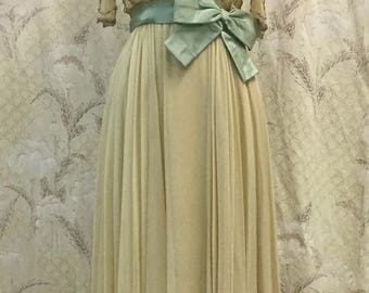Vintage 1960s Malcolm Starr Beaded Silk Evening Gown, Deadstock/Never Been Worn