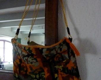 """Pouch - golden chain-""""canvas"""" sunny shoulder bag"""