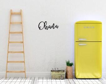 Ohana, Ohana Means Family, Hawaiian Decor, Tropical Decor, Ohana Sign, Metal Sign, Family Sign, Kitchen Decor, Hawaiian Decorations, Tropic