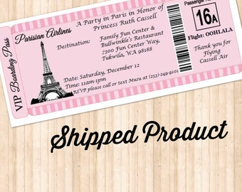 Paris Boarding Pass