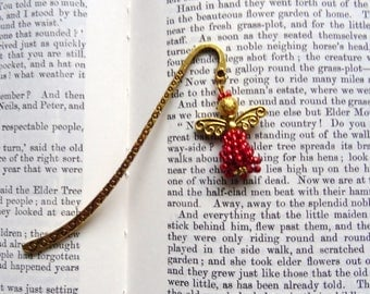 Red angel bookmark, guardian angel, metal book mark, sparkle angel. Teachers gift, Gift for her, under a fiver gift