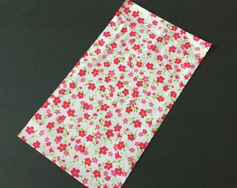 100 Designer Poly Mailers 6x9 Little RED FLOWERS Self Sealing Envelopes Shipping Bags Spring Mother's Day