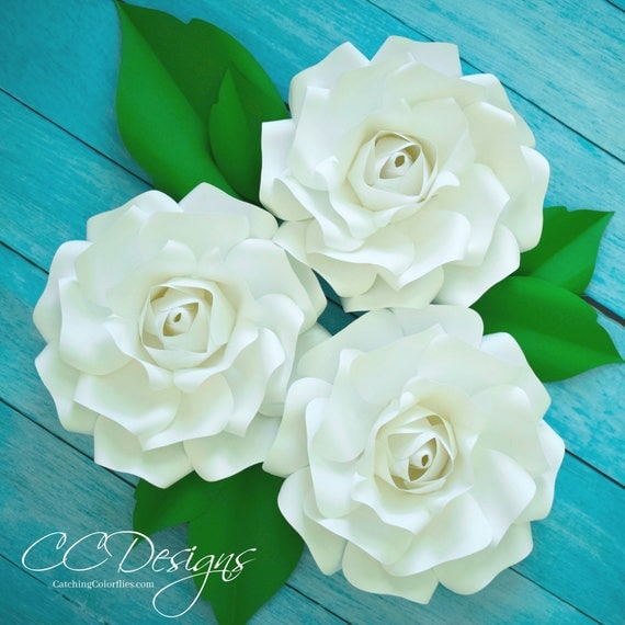 Small paper rose flower templates tutorial wedding paper roses il570xn mightylinksfo