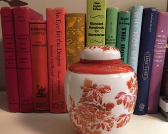 Vintage Orange Ginger Jar