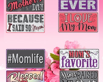 Mothers Day Photo Booth Props | Photo Booth Props | Prop Signs