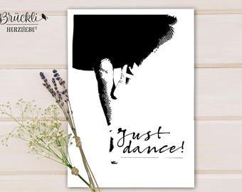 "A4 print / mural / poster / wall decoration / decoration ""Just dance"" / Dance / Ballet"