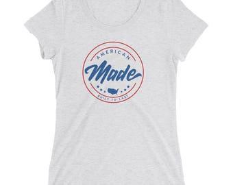 American Made Womens Triblend T-Shirt