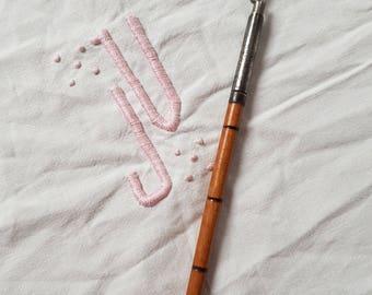 old wooden pen holder