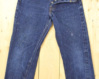 "Vintage 1970's LEVIS ""BIG E"" 501's Denim Jeans / Single Stitch / ""6"" Button / Selvedge / Redline / Retro Collectable Rare"