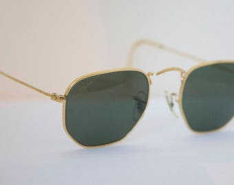 Ray Ban W1840  Gold wire Aviators Sunglasses  / Made in USA /Bausch and Lomb