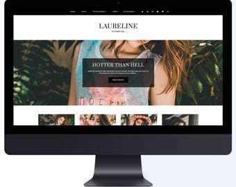 Laureline | Responsive Blogger Template With LANDING PAGE + Free Installation