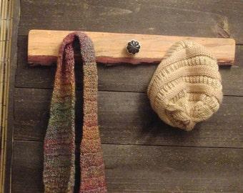 rustic natural edge scarfpurse rackhook