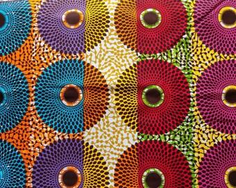 Multi-color African Print Fabric - Ankara Fabric - Fabric by Yard - African Print Head wrap -  Hitarget Print - Ready to Ship