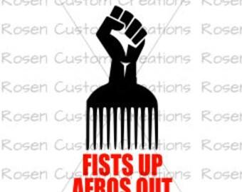 Black Lives Matter svg. afro. black power. power. first. afro. natural hair
