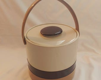 1970s Elmar MFG Tan Vinyl Ice Bucket