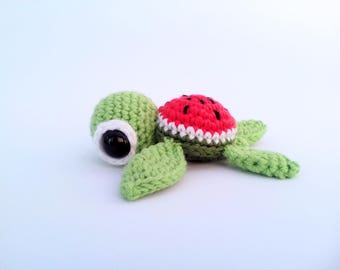 Crochet Sea Turtle Watermelon Sealife Amigurumi