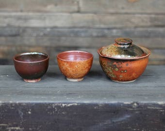 Japan teapot, Japan tea set, Gaiwan, Japan ceramic, Ceramics and Pottery, Tea bowl, Ceramic teapot, Tea for one, Shiboridashi, Japan gift