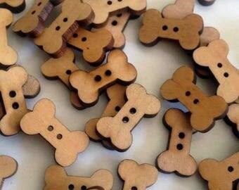 12 Bone wooden buttons #EB25