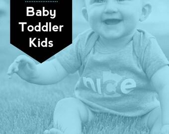 Baby + Toddler + Kids Set, FREE SHIPPING - Nice Minnesota Shirt, State Shirt, Minnesota Shirt, Minnesota T-shirt