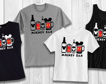 Mickey Bar - EPCOT - Drinking around the world Disney shirt