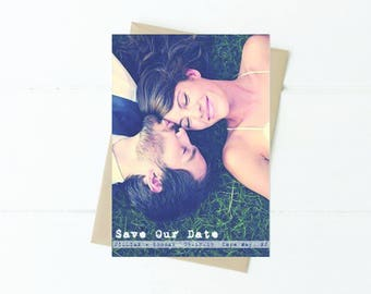 Save-the-Date-Printable Photo Postcard - 5x7 Digital File- photo save the date Card-Photo Card-Announcement Invites